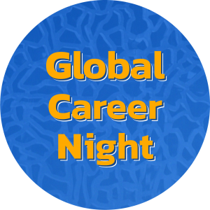 Decorative image with words Global Career Night.